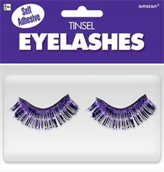 Tinsel Eyelashes Purple