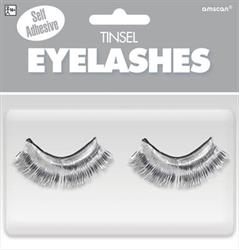 Tinsel Eyelashes Silver