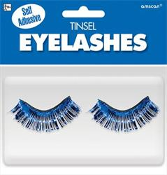 Tinsel Eyelashes Blue