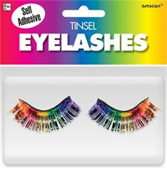 Tinsel Eyelashes Rainbow