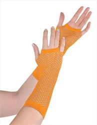 Fishnet Gloves Orange in Hang Sell Pack