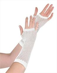 Fishnet Gloves White in Hang Sell Pack