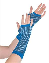 Fishnet Gloves Blue in Hang Sell Pack