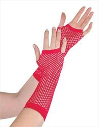 Fishnet Gloves Red in Hang Sell Pack