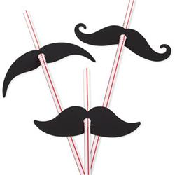 Moustache Straws 23cm with 7.5cm Moustache