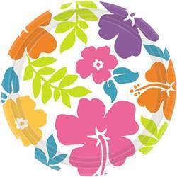 Hibiscus Round Melamine Bowl