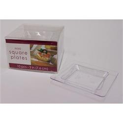 Square Mini Wavy Plate Clear 7.5cm