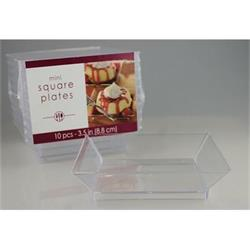Square Appetizer Plate Clear 8.8cm