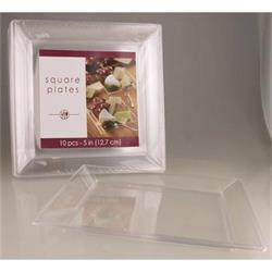 Square Plate Clear 12.5cm