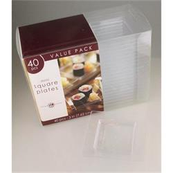 Mini Square Plate Hi Count Clear 7.5cm