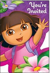 Dora and Friends Invitations pack of 8