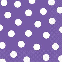 Lunch Napkins Dots New Purple