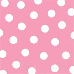 Lunch Napkins Dots New Pink