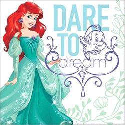 Dream Big Ariel - Little Mermaid Luncheon Napkins Pack of 16 Inner 6