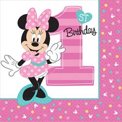 Minnie Mouse Fun To Be One Luncheon Napkins 16 pack