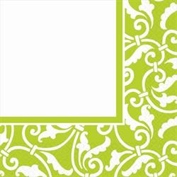 Ornamental Scroll Kiwi Luncheon Napkin