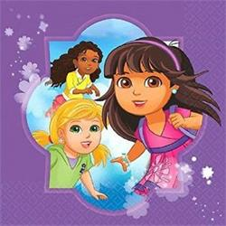 Dora and Friends Luncheon Napkins Pack 16