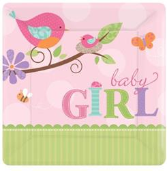 Tweet Baby Girl 17.7cm Plate Square