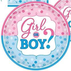 Girl or Boy?  Paper Plates 23cm Amscan