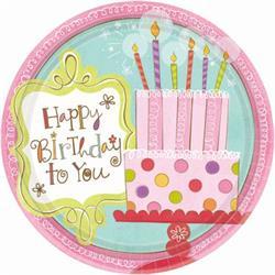 Sweet Stuff Birthday Plate 17.8cm