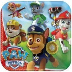 Paw Patrol Square Plate 23cm Pack 8