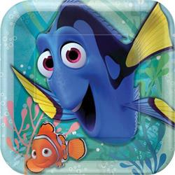 Finding Dory Square Plates 23cm Pack 8