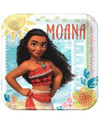 Moana Square Plates 23cm Pack 8