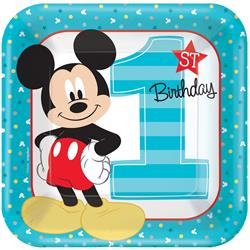 Mickey Fun To Be OneSquare Plate 23cm Inner