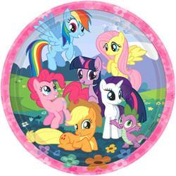 My Little Pony Friendship Plates 23cm Pack 8
