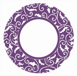Ornamental Scroll New Purple 22.8cm Plate