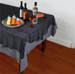 Black Cheesecloth Tablecover 152cm x 213cm