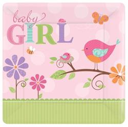 Tweet Baby Girl 25cm Plate Square
