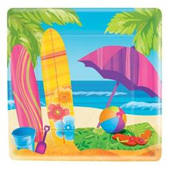 Surfs Up 25cm Plate Square