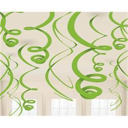 Swirl Decoration Plastic Green