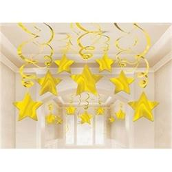 Gold Shooting Star Swirl Pkt 30