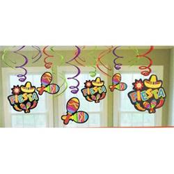 Fiesta Swirls with Cutouts 12 pieces