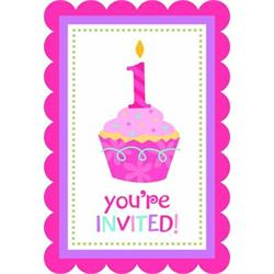 Sweet Little Cupcake Girl Invites