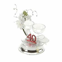 40th Ornament Glass