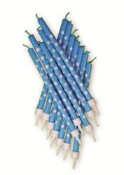 CandleTall 10cm Blue Polka Dots with Holders