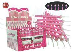 Perfectly Pink Colour Flame Candles 5.5 cm