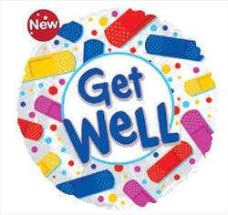 Get Well Colourful Bandaids 45cm