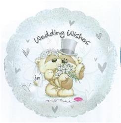 Fizzy Moon Wedding Wishes Foil balloon 45cm