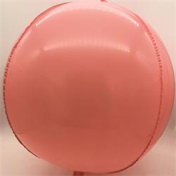 "Plastic Balloon Balls 22"" - 56cm Coral Pink Plastic self sealing"