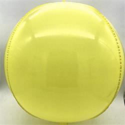 "Plastic Balloon  Balls 22"" - 56cm Yellow self sealing"
