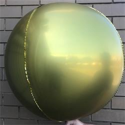 "Foil Balls 32"" - 81cm Chrome Gold pack 2 -self sealing"