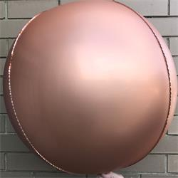 "Foil Balls 32"" - 81cm Chrome Rose Gold pack 2 -self sealing"