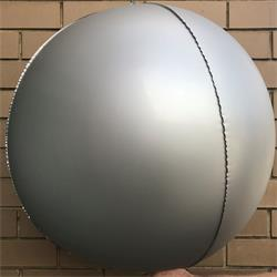 "Foil Balls 32"" - 81cm Chrome Silver -pack 2-self sealing"