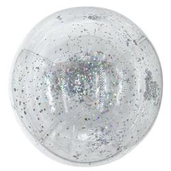 Bobo Balloon Balls Crystal Clear  pre-filled with 5gr small Silver confetti. 40cm Hang Sell Packaging