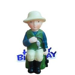 Resin Fisherman Topper and Happy Birthday Motto