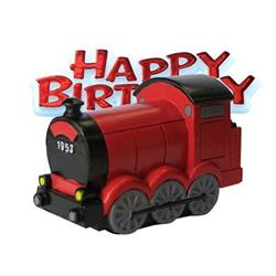 Resin Train Topper and Happy Birthday Motto